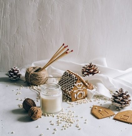 lumânări parfumate de Crăciun