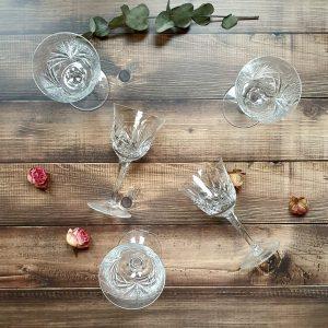 pahare de cristal vintage